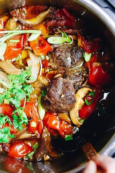 Instant Pot Taiwanese Beef Stew with beef shank. Easy healthy and low carb electric pressure cooker beef stew recipe. Low Carb Beef Stew, Pressure Cooker Beef Stew, Easy Beef Stew, Pressure Cooker Recipes, Whole 30 Beef Stew, Asian, Easy Salads, Meal Prep, Meals