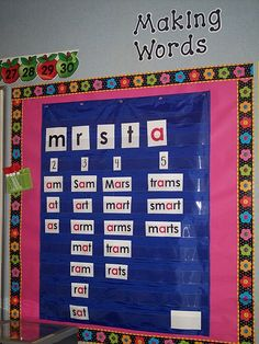 Making Words Lesson (Sorting Sample)