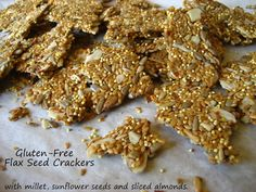 Home Cooking In Montana: Flax Seed Crackers... Gluten-Free/Egg-Free/Flour-less.