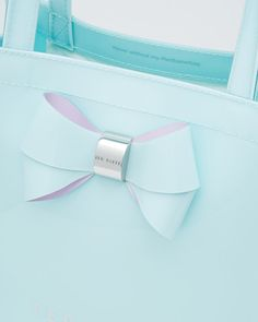Bow detail small shopper bag - Mint | Bags | Ted Baker
