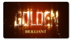 Golden Brilliant Logo Reveal (Light) #Envato #Videohive #aftereffects