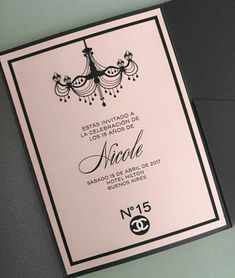 Tarjetas de 15 | Invitaciones originales para cumpleaños de 15 Chanel Birthday Party, Chanel Party, Birthday Parties, Invitation Card Birthday, Invitation Cards, Invitations, Bacherolette Party, Ideas Para Fiestas, Tiffany And Co
