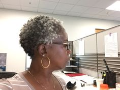Embracing my gray hair!