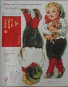 "Lot:197: Kellogg's uncut Nursery Rhyme cloth doll - ""Tom Th, Lot Number:197, Starting Bid:$70, Auctioneer:Hyde Park Country Auctions, Auction:197: Kellogg's uncut Nursery Rhyme cloth doll - ""Tom Th, Date:06:00 AM PT - Jul 30th, 2011"