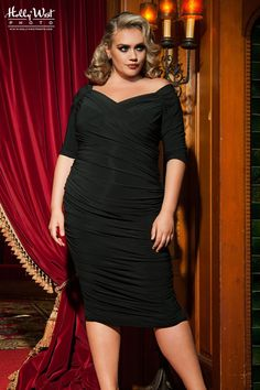 Laura Byrnes California Plus Size Monica Dress in Black
