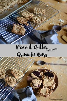 Peanut Butter and Jelly Granola Bars - so easy and healthy!