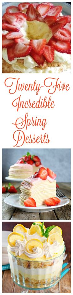 There are so many delicious recipes to choose from in this dessert roundup; from easy cakes, pies and cheesecakes to peanut butter eggs and cream puffs, you'll find a ton of ideas for your spring party or Easter dessert. Mini Desserts, Spring Desserts, Great Desserts, Homemade Desserts, Spring Recipes, Best Dessert Recipes, Sweet Recipes, Delicious Recipes, Easy Recipes