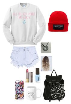 """""""an outfit that doesn't match but I would wear because fandom. duh"""" by noellemerri ❤ liked on Polyvore featuring One Teaspoon and Urban Decay"""