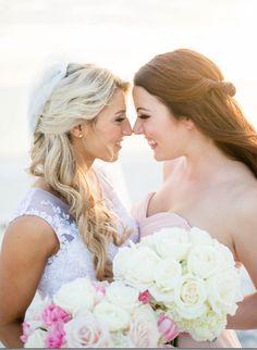 Bride and maid of honor photo idea