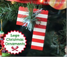 Christmas Ornaments Made with Legos - The Taylor House