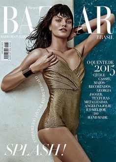 Harper's Bazaar Brazil January 2015 | Barbara Fialho by Fabio Bartelt #Covers2015 #BarbaraFialho