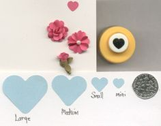 Mini Heart Shape Paper Punch by Punch Bunch Quilling Scrapbook Cardcraft | eBay