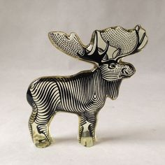 Abraham Palatnik op art Lucite moose 305 by sophisticatedflorida