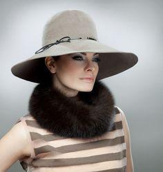 My new hat - Eric Javits - got it at Saks
