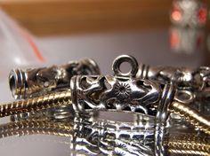 Beard Bead Silver tone Bail Bead  to hang #beard beads #beard jewelry #beardbeads by FarTooManyTreasures