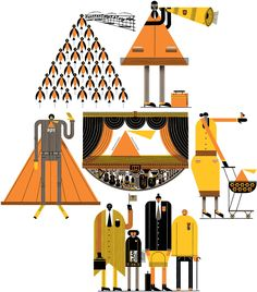 This is the online portfolio of the Canadian illustrator Raymond Biesinger. Creative Advertising, Flat Color, Colour, Material Design, The Guardian, Art World, Art Direction, Illustrators, Graphic Art