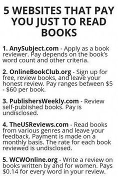 5 Websites That Pay You Just To Read Books - Finance tips, saving money, budgeting planner Useful Life Hacks, Life Hacks Websites, Money Making Websites, List Of Websites, Study Tips, Online Jobs, Online Blog, Book Nerd, Way To Make Money