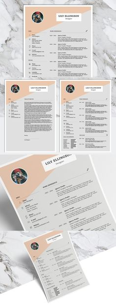 Resume Template 3 page pack CV Template Cover by ResumeGalleria - cover for resume