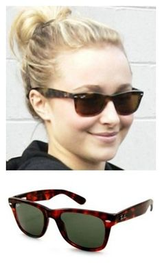 8cec2a7213 Hayden Panettiere is rockin  a pair of Ray Ban Wayfarer sunglasses. These  particular wayfarers are the RB 2113 they run smaller than the original and  don t ...