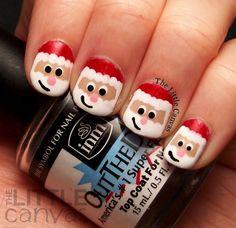 Santa Claus Nail Art! ___________________________________ This is the cutest! I love it :D