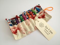 Crayon Roll by ZoeandGem on Etsy, $14.00