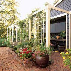 panneau occultant de jardin, panneaux occultants avec treillis, écrans de jardins