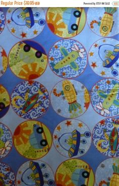 50% OFF SALE - Cotton Fabric,Quilt,Craft~Children's Extra World Fabric~Fast Shipping CH