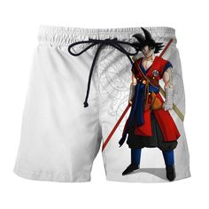 Dragon Ball Z Cool Goku Training Attire Shenron Boardshorts