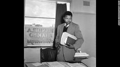 Mandela in the office of Mandela & Tambo, a law practice set up in Johannesburg by Mandela and Oliver Tambo to provide free or affordable legal representation to black South Africans. Nelson Mandela, Africans, The Office, Swagg, Evolution, Law, The Past, In This Moment, History