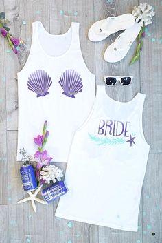 I Washed Up Like This | Bride | Seashell Bra | Mermaid Bachelorette Party Tank Tops #bachelorettegifts #shirts #bacheloretteshirt #etsyclothes #etsyshirt #tshirt #tee #bachelorettetshirt #shirt #tees #etsy #bachelorette #bacheloretteparty
