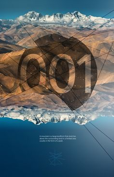 landscape posters by Emiliya Lokta, via Behance