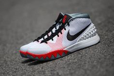 c0b6ddcb4bcb NIKE KYRIE 1 INFRARED WHITE BLACK DOVE GREY 705277 100  150 Kyrie Irving 1