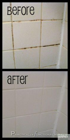 Cleaning Tip for this Week Clean Tile Grout With This Homemade Grout Cleaner Want a simple trick for cleaning grout in your shower, bath, or kitchen? This homemade grout cleaner works great and it only requires 2 ingredients: baking soda and bleach! Bathroom Cleaning Hacks, Household Cleaning Tips, Cleaning Recipes, House Cleaning Tips, Grout Cleaning, Kitchen Cleaning, Cleaning Mold, Bathroom Cleaning Tips, Cleaning Shower Tiles