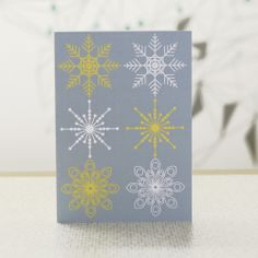 Scenic winter christmas card pack – DOWSE Snowflake