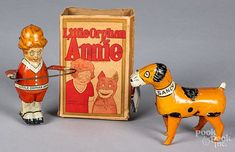 Marx lithograph Little Orphan Annie and Sandy toy