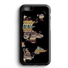 World Map Aztec Pattern iPhone 7 Case