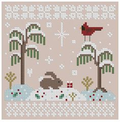 The Floss Box | The Christmas Gift Cross Stitch