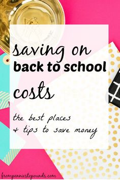 Want to find out how to save money on back to school costs? Click here to find out! Including uniforms, shoes, food. http://www.frompenniestopounds.com/saving-back-school-costs/