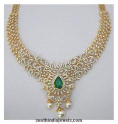 diamond necklace with emerald - ค้นหาด้วย Google