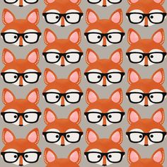 Too Cute Fox Cream fabric by natitys on Spoonflower - custom fabric