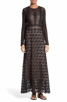 Theory Rabella Daisy Lace Maxi Dress