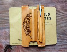 Leather Field Notes Notebook Vest Leather by TheCabinGiftShop