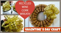 DIY Wine Cork Wreath -what a great way to use those corks