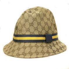 22b2f8b27ce Gucci Unisex Fedora Hat Yellow and Gray Web 200036 - LuxuryProductsOnline