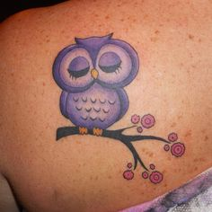 10 originales tatuajes de buhos para mujeres | Tatuajes Flash