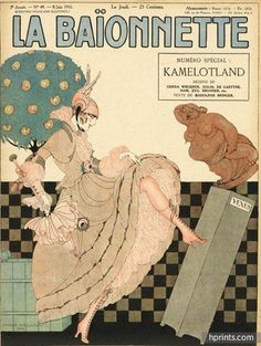 Gerda Wegener 1916 Kamelotland, Elegant Parisienne, La Baïonnette Art Deco Cover