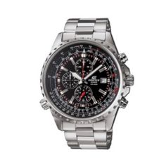 6b6a8310cd1 Casio Edifice Stainless Steel Flight Computer Chronograph Watch - Men  Relojes Deportivos