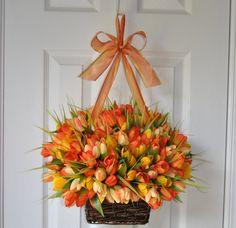 tulips on your door