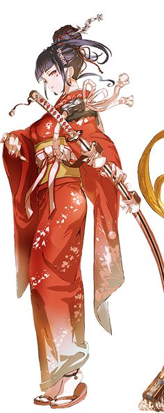 ideas for anime art girl outfits illustrations Girls Anime, Manga Girl, Anime Art Girl, Anime Kimono, Manga Anime, Geisha Anime, Hot Anime, Anime Fantasy, Fantasy Girl