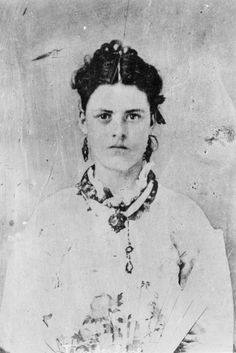 """Rose Vastine (shown) was a prostitute in Dodge City, Kansas and later Creede, Colorado. She was 6' 2"""" in height and because of that was known as """"Timberline."""" This photograph is believed to have been taken sometime during the 1870's. Photo courtesy of the Kansas State Historical Society."""